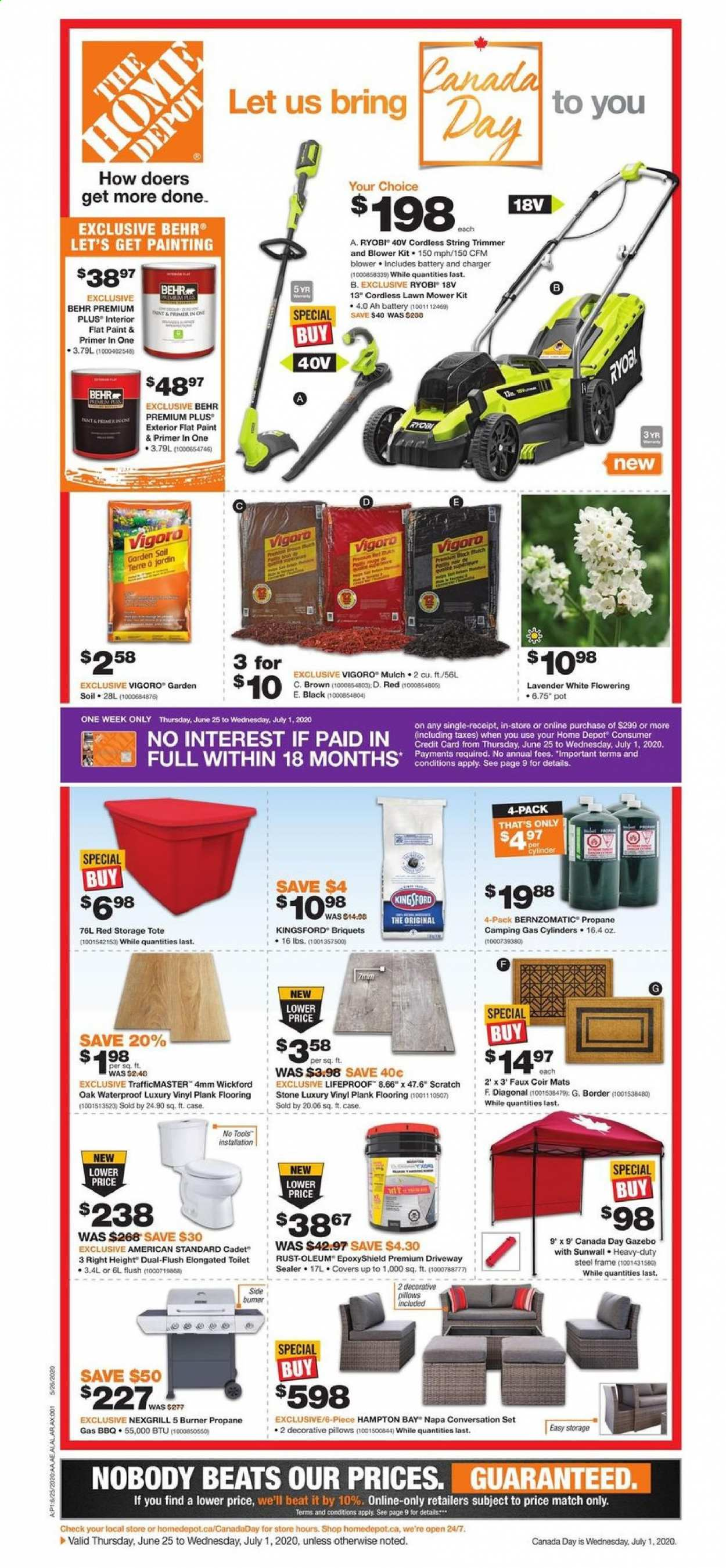 The Home Depot Flyer  - June 25, 2020 - July 01, 2020. Page 1.