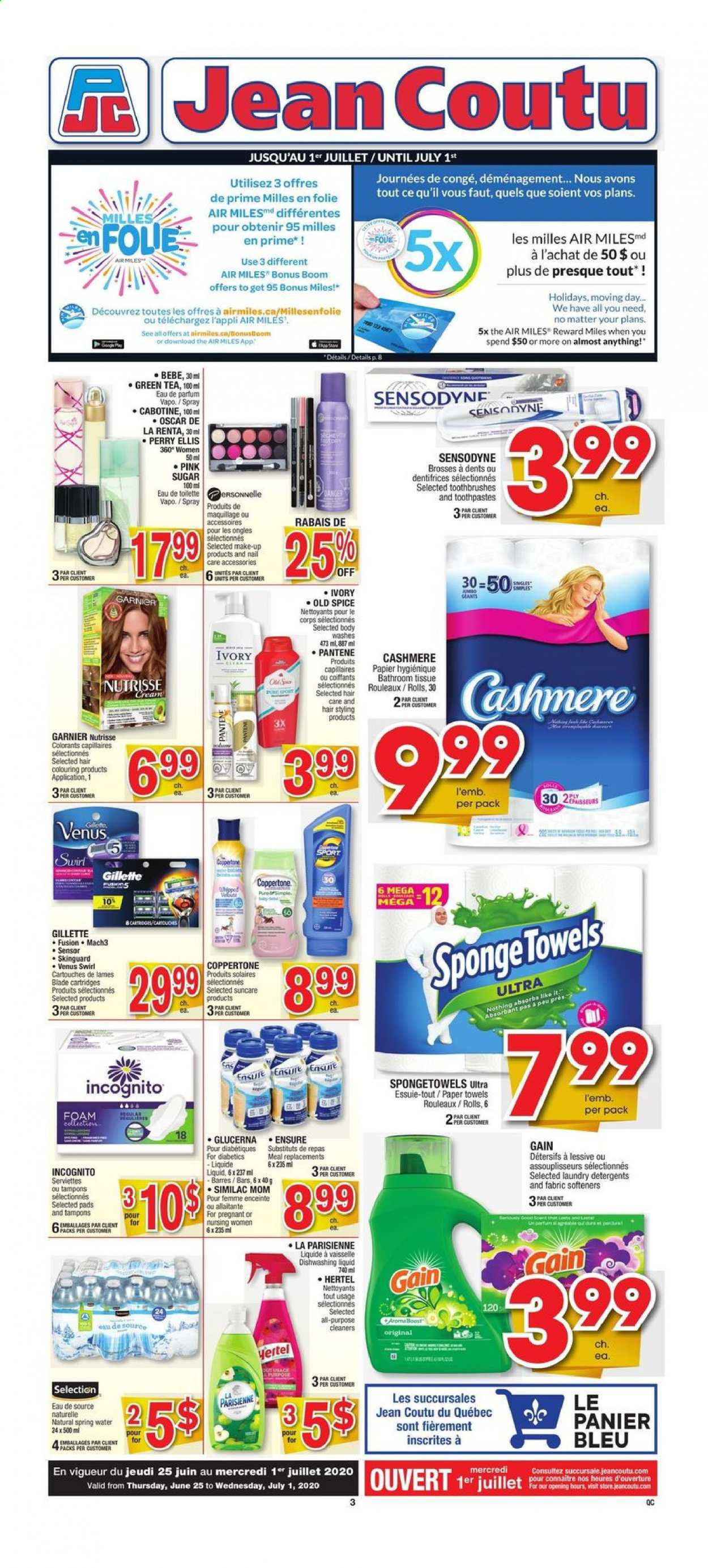 Jean Coutu Flyer  - June 25, 2020 - July 01, 2020. Page 1.