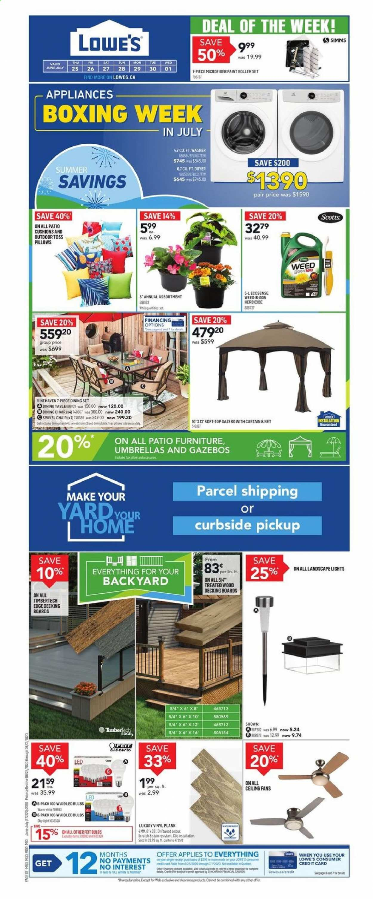 Lowe's Flyer  - June 25, 2020 - July 01, 2020. Page 1.