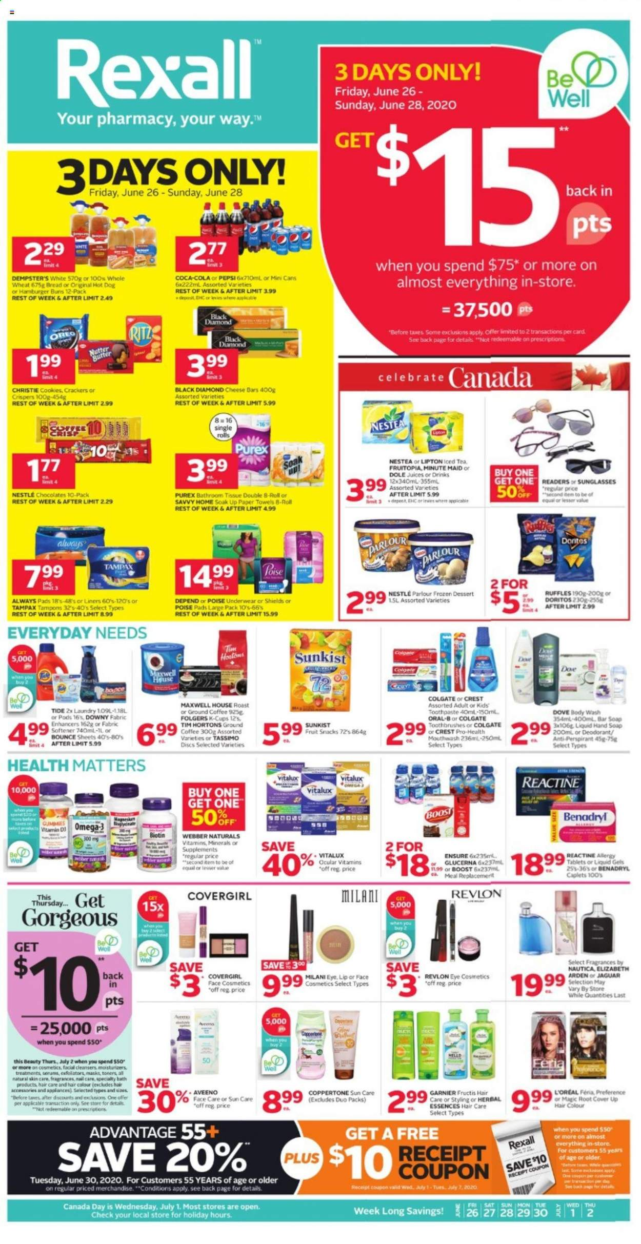 Rexall Flyer  - June 26, 2020 - July 02, 2020. Page 1.