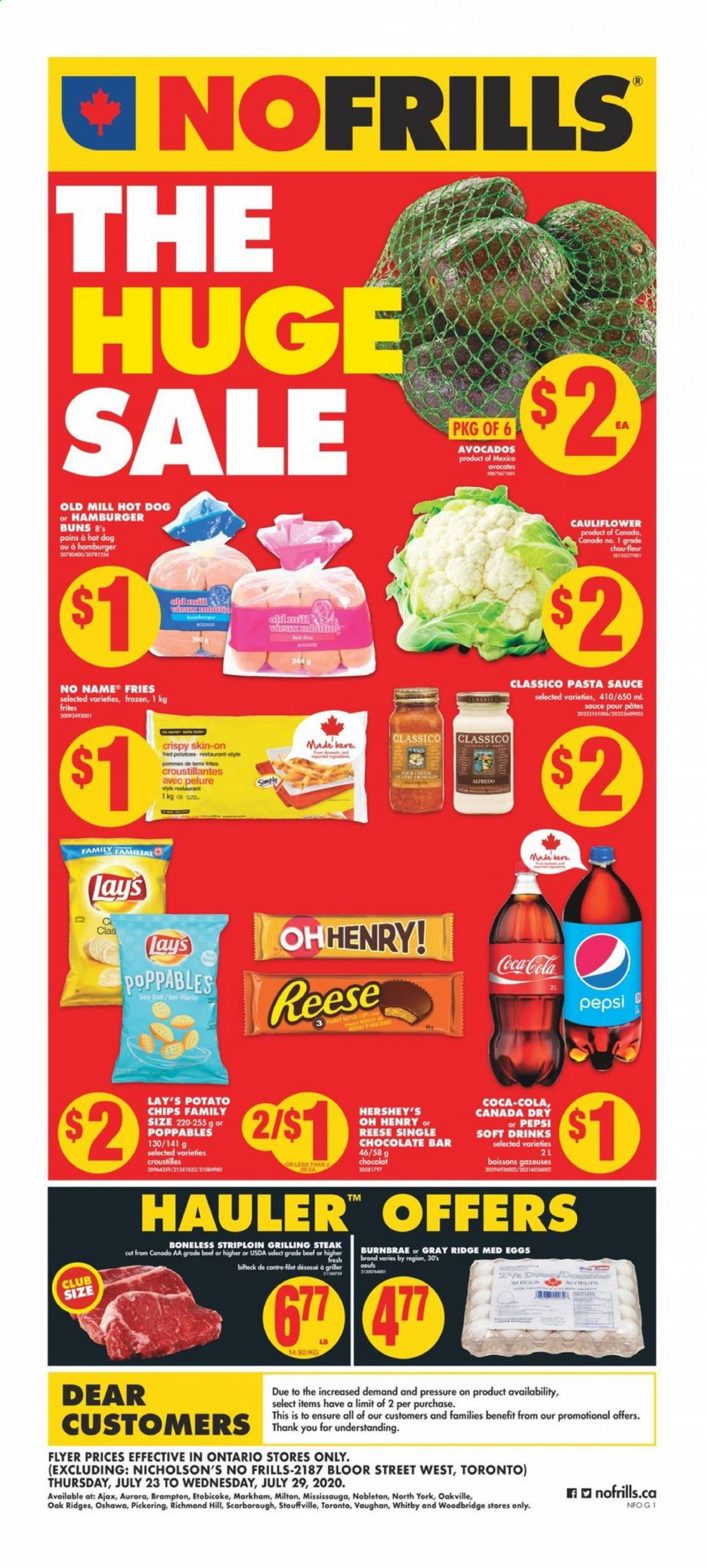 No Frills Flyer  - July 23, 2020 - July 29, 2020. Page 1.