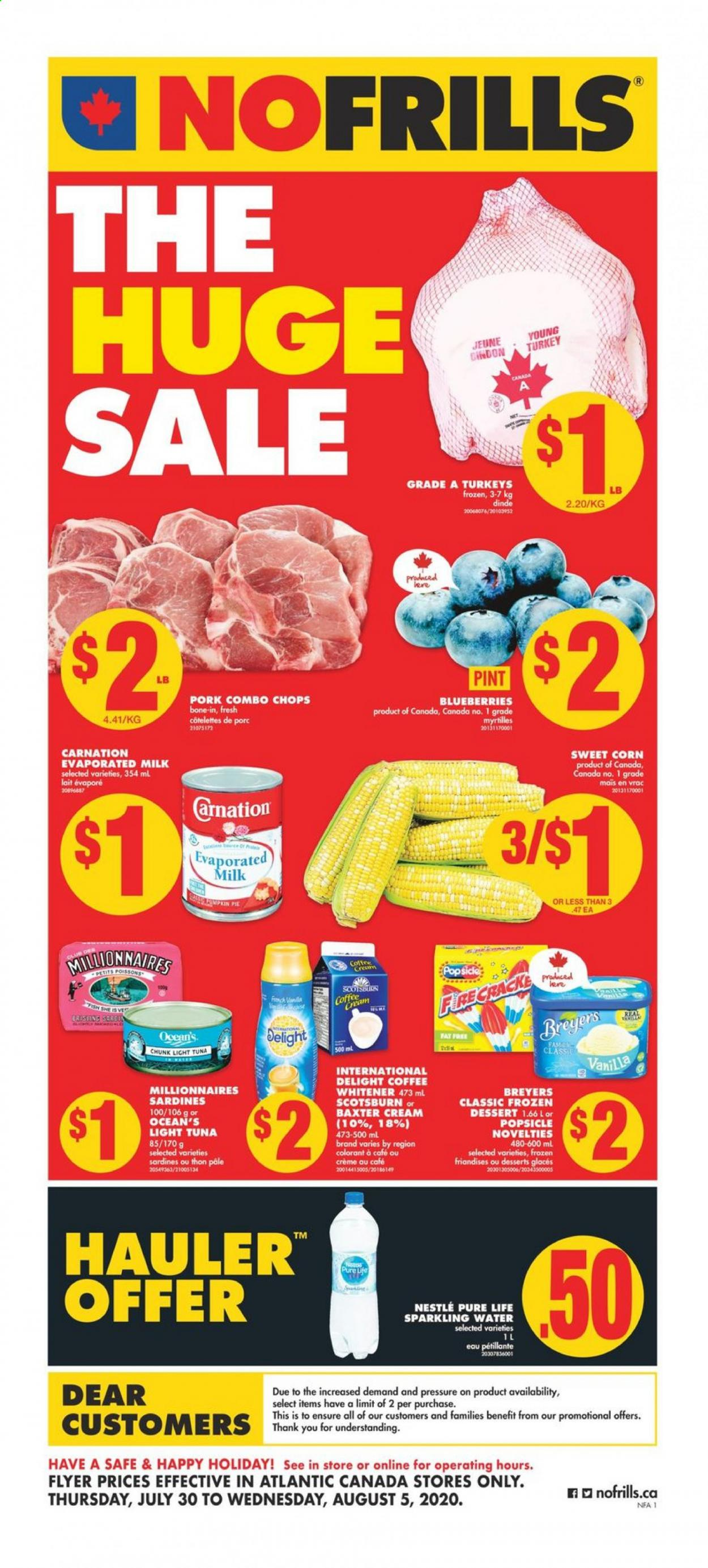 No Frills Flyer  - July 30, 2020 - August 05, 2020. Page 1.