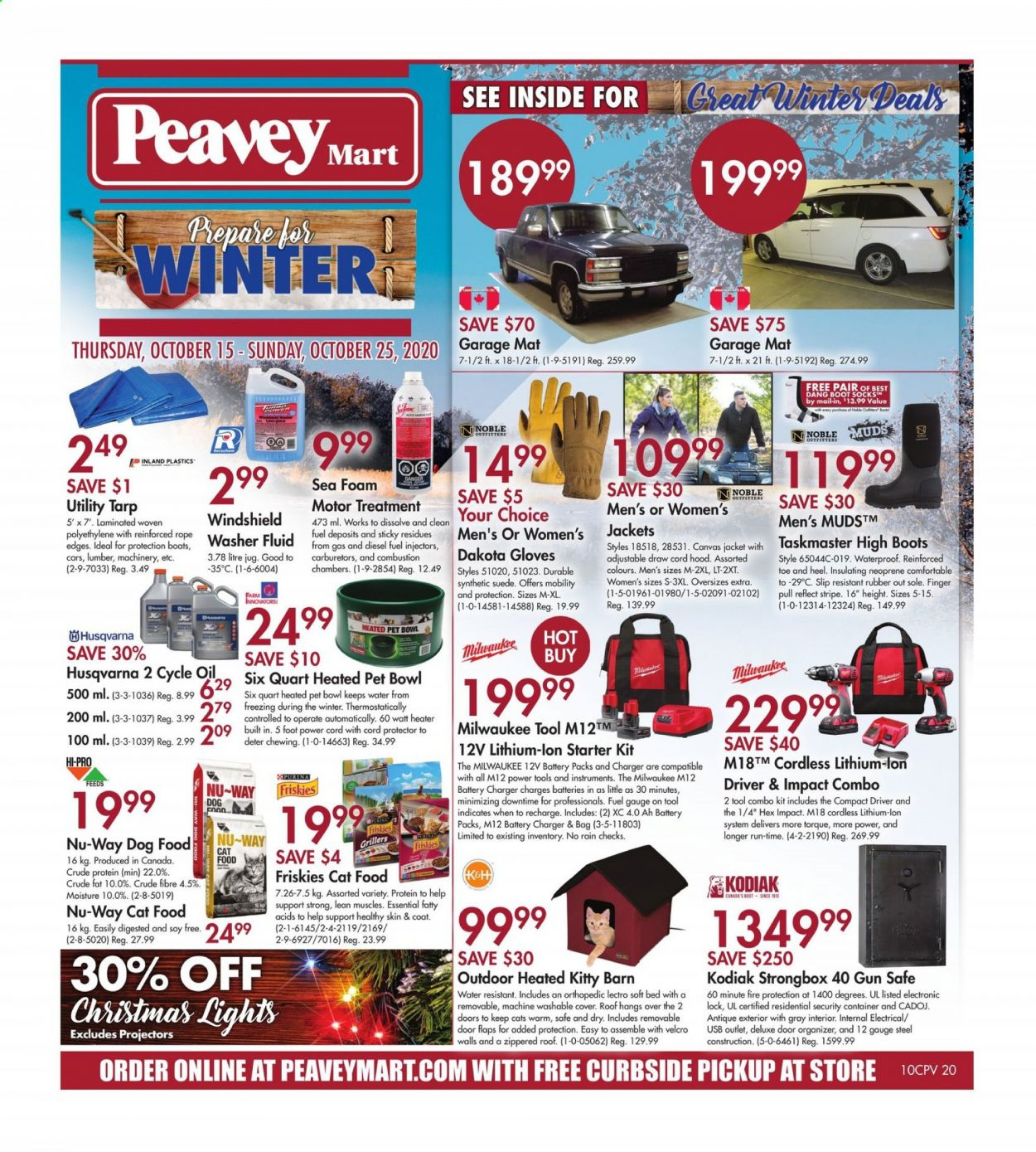 Peavey Mart Flyer October 15 2020 October 25 2020 Page 1 Canadian Flyers