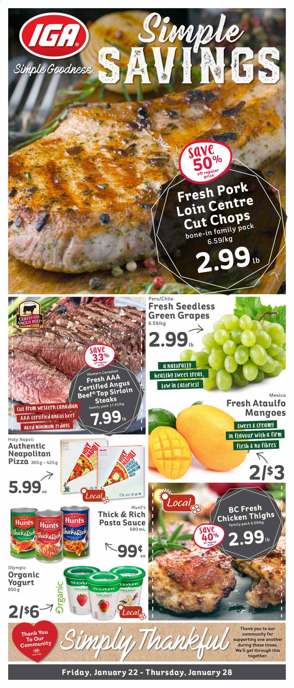 IGA Simple Goodness Flyer  - January 22, 2021 - January 28, 2021. Page 1.