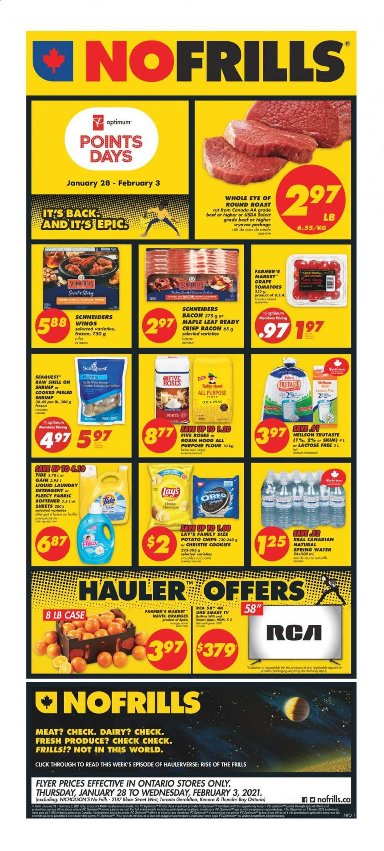 No Frills Flyer - January 28, 2021 - February 03, 2021 - Sales products - water. Page 1.