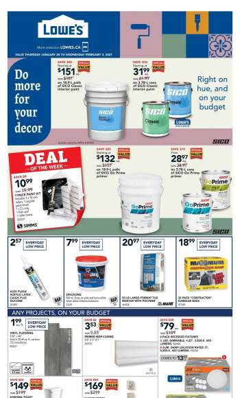Lowe's Flyer - January 28, 2021 - February 03, 2021.