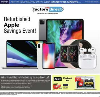 Factory Direct Flyer - January 27, 2021 - February 03, 2021.