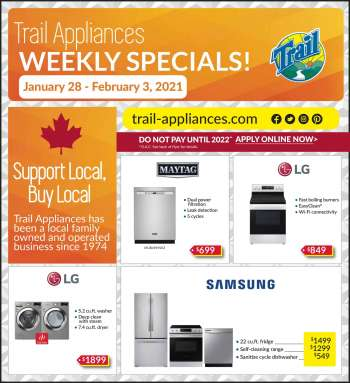 Trail Appliances Flyer - January 28, 2021 - February 03, 2021.