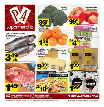 PA Supermarché Flyer - February 01, 2021 - February 07, 2021.