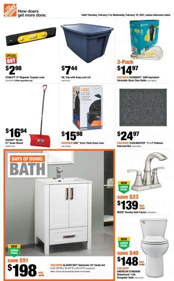The Home Depot Flyer - February 04, 2021 - February 10, 2021.