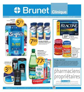 Brunet Clinique Flyer - February 18, 2021 - March 03, 2021.