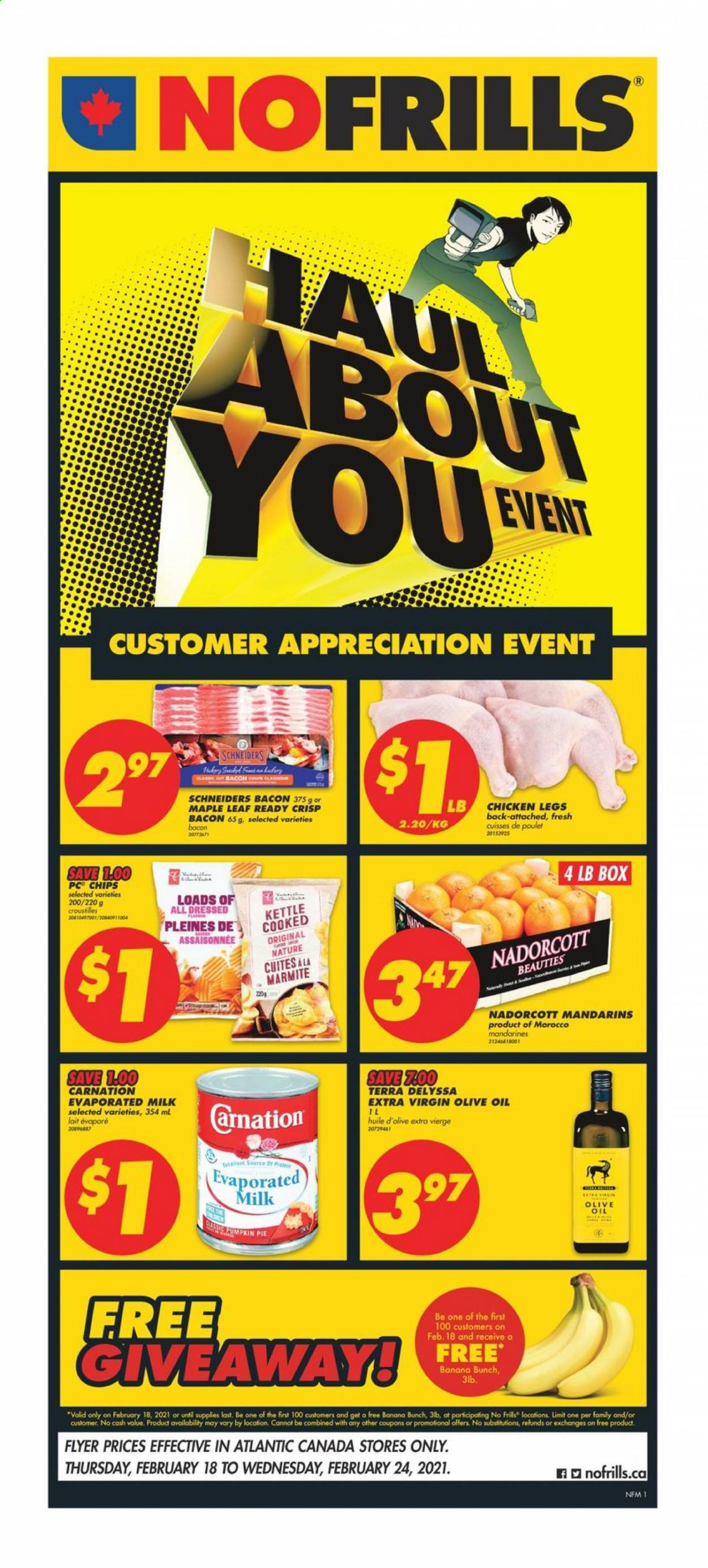 No Frills Flyer  - February 18, 2021 - February 24, 2021. Page 1.