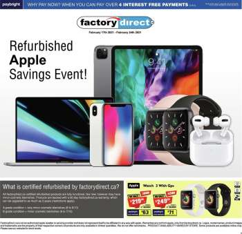 Factory Direct Flyer - February 17, 2021 - February 24, 2021.