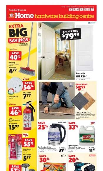 Home Hardware Building Centre Flyer - February 18, 2021 - February 24, 2021.