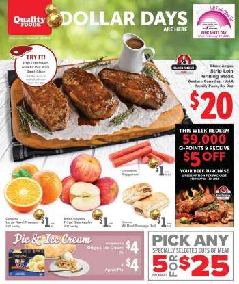 Quality Foods Flyer - February 22, 2021 - February 28, 2021.