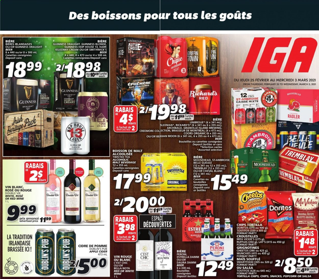IGA Flyer  - February 25, 2021 - March 03, 2021. Page 1.
