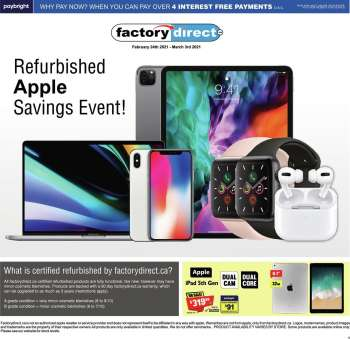 Factory Direct Flyer - February 24, 2021 - March 03, 2021.
