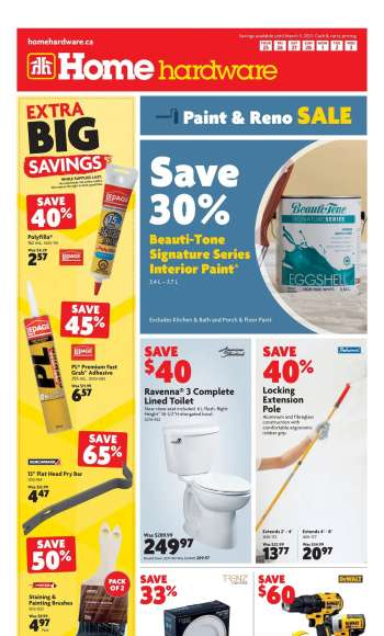 Home Hardware Flyer - February 25, 2021 - March 03, 2021.