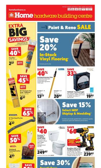 Home Hardware Building Centre Flyer - February 25, 2021 - March 03, 2021.