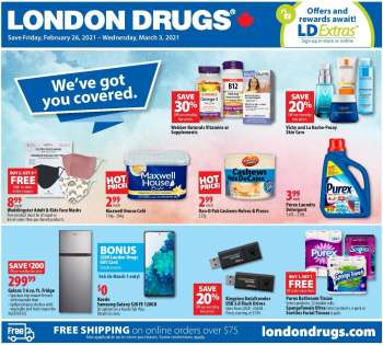 London Drugs Flyer - February 26, 2021 - March 03, 2021.