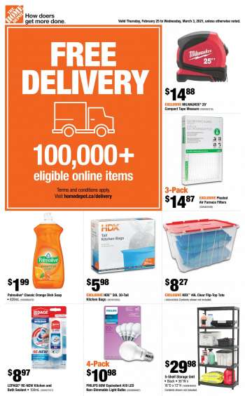 The Home Depot Flyer - February 25, 2021 - March 03, 2021.
