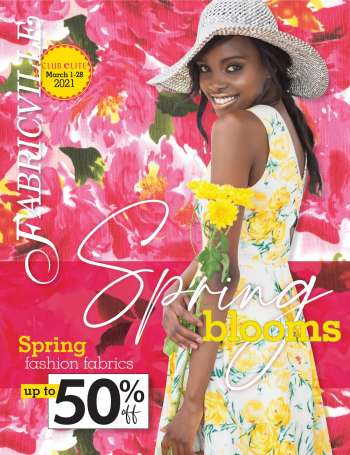 Fabricville Flyer - March 01, 2021 - March 28, 2021.
