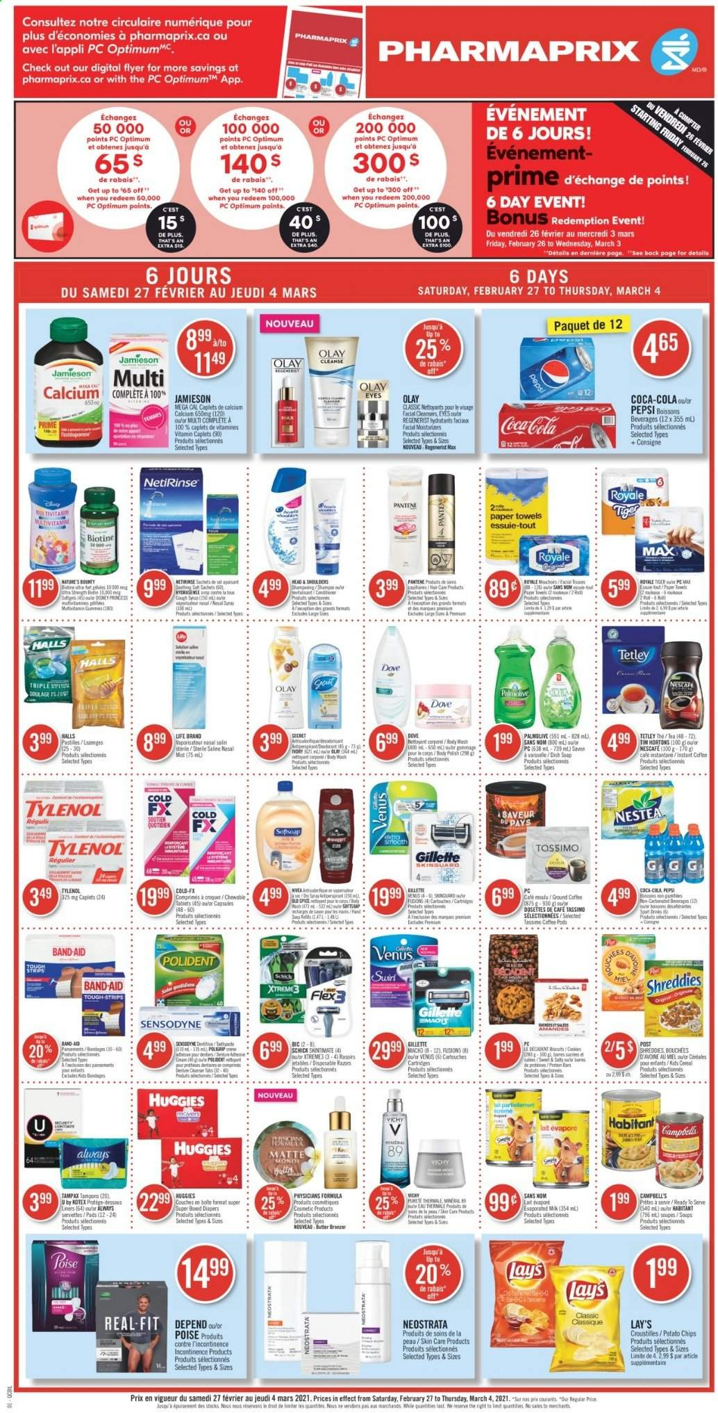 Pharmaprix Flyer - February 27, 2021 - March 04, 2021 - Sales products - band-aid. Page 1.
