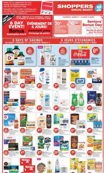 Shoppers Drug Mart Flyer - February 27, 2021 - March 04, 2021.