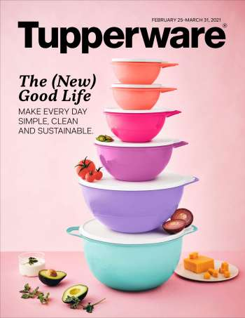 Circulaire Tupperware - 25 Février 2021 - 31 Mars 2021.