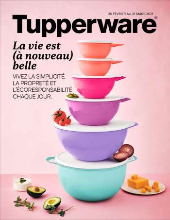 Tupperware Flyer - February 25, 2021 - March 31, 2021.
