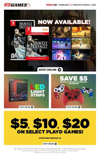 EB Games Flyer