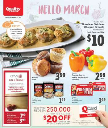Quality Foods Flyer - March 01, 2021 - March 07, 2021.