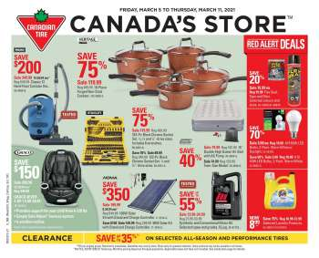 Canadian Tire Flyer - March 05, 2021 - March 11, 2021.