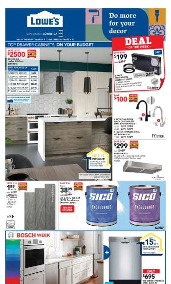 Lowe's Flyer - March 04, 2021 - March 10, 2021.