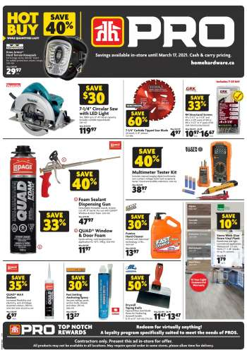 Home Hardware Flyer - March 04, 2021 - March 17, 2021.