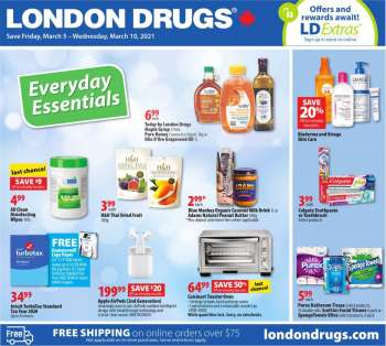 London Drugs Flyer - March 05, 2021 - March 10, 2021.