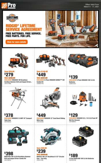 The Home Depot Flyer - March 04, 2021 - March 17, 2021.