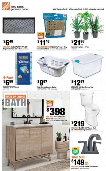 The Home Depot Flyer - March 04, 2021 - March 10, 2021.