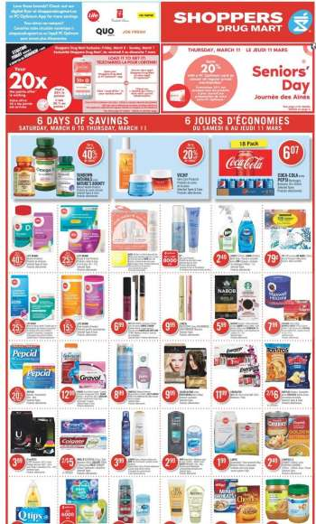Shoppers Drug Mart Flyer - March 06, 2021 - March 11, 2021.