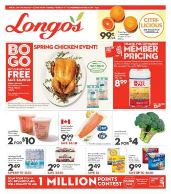 Longo's Flyer - March 11, 2021 - March 24, 2021.