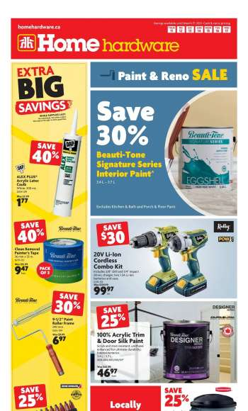 Home Hardware Flyer - March 11, 2021 - March 17, 2021.