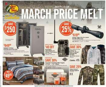 Bass Pro Shops Flyer - March 11, 2021 - March 24, 2021.