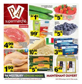 PA Supermarché Flyer - March 15, 2021 - March 21, 2021.