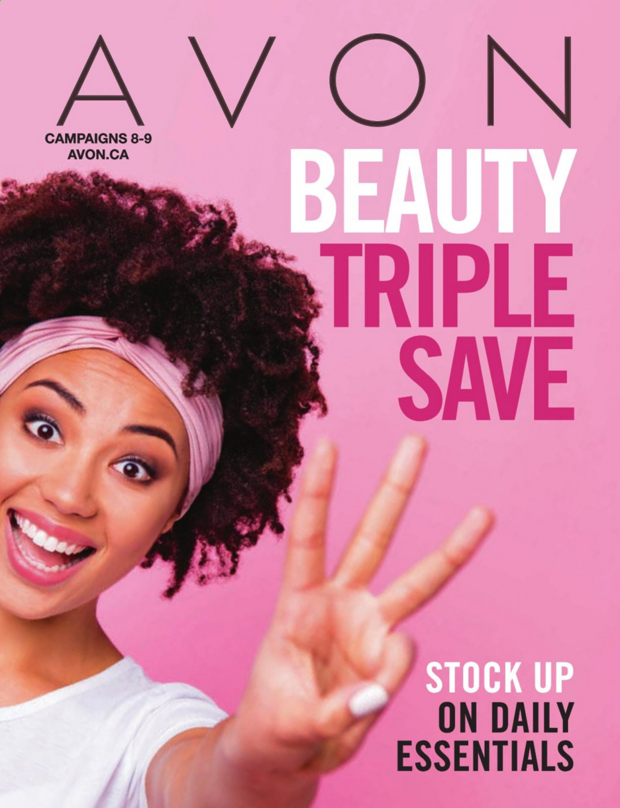 Avon Flyer - Sales products - essentials. Page 1.