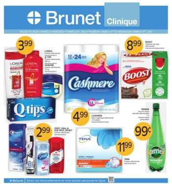 Brunet Clinique Flyer - March 18, 2021 - March 31, 2021.