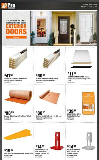 The Home Depot Flyer - March 18, 2021 - March 31, 2021.