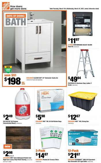 The Home Depot Flyer - March 18, 2021 - March 24, 2021.