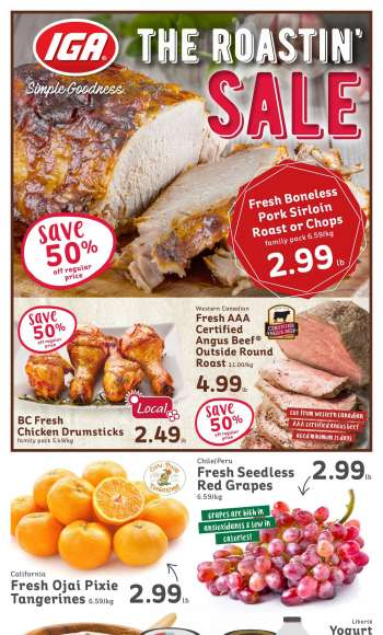 IGA Simple Goodness Flyer - March 19, 2021 - March 25, 2021.