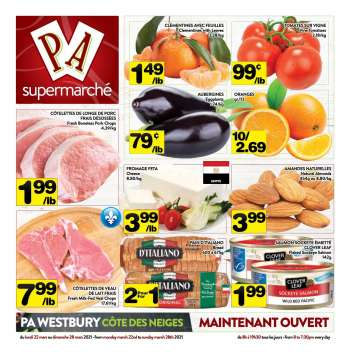 PA Supermarché Flyer - March 22, 2021 - March 28, 2021.