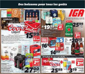 IGA Flyer - March 25, 2021 - March 31, 2021.